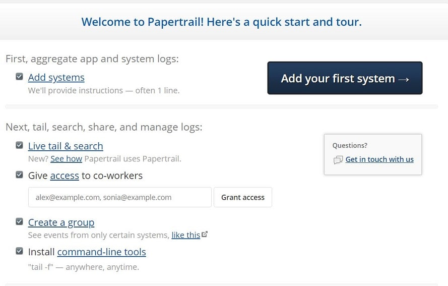 Papertrailapp Add First System